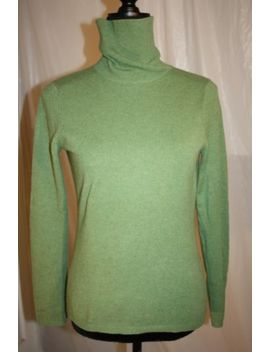 Sutton Studio Women's 100 Percents Cashmere Sweater Turtleneck Size S Green by Sutton Studio