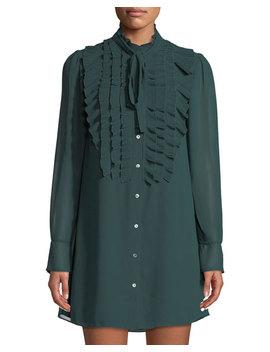 Near Death Ruffle Trim Dress W/ Tie by Bailey 44