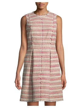 Sleeveless Tweed Mini Dress by Rebecca Taylor