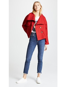 Belle High Collar Jacket by Line & Dot