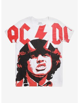 Ac/Dc Angus Photo Large Print T Shirt by Hot Topic