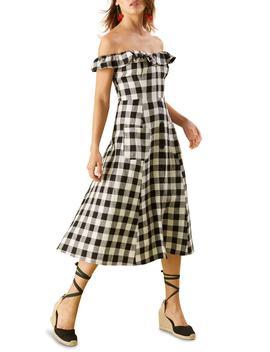 Hattie Off The Shoulder Linen Dress by Reformation