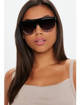 Brown Half Tortoise Shell Frame Sunglasses by Missguided