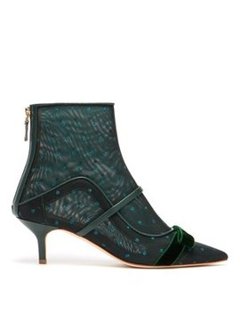 Claudia Mesh And Leather Ankle Boots by Malone Souliers By Roy Luwolt