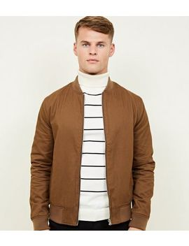 Brown Bomber Jacket by New Look