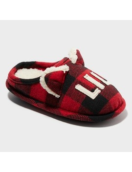 Kids' Dluxe By Dearfoams Slide Slippers   Red by Dluxe By Dearfoams