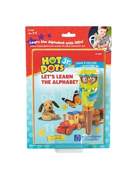 Educational Insights Hot Dots Jr. Let's Learn The Alphabet Interactive Book & Pen Set by Educational Insights
