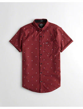 Short Sleeve Stretch Oxford Slim Fit Shirt by Hollister