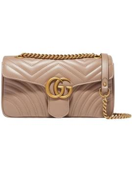 Marmont Small Quilted Leather Shoulder Chain Cross Body Bag by Gucci