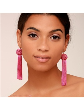 New Vanessa Mooney Astrid Knotted Tassel Earrings   Nwt by Vanessa Mooney