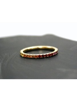 Multi Sapphire Full Eternity Band In 14k Solid Gold by Etsy