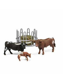 Schleich Texas Longhorn Family On The Pasture Figurine Toy Play Set, Multicolor by Schleich