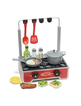 Melissa & Doug 17 Pc. Deluxe Wooden Cooktop Set by Kohl's