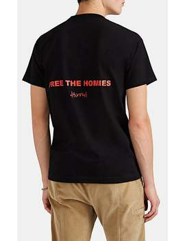 """Free The Homies"" Cotton T Shirt by 4 Hunnid"