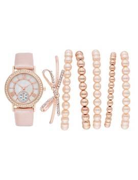 womens-crystal-watch-&-bracelet-set by kohls