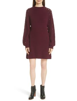 Open Knit Sleeve Sweater Dress by See By ChloÉ