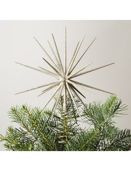 Glitter Silver 3 D Star Tree Topper by Crate&Barrel