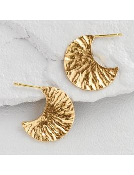 Small Gold Textured Hoop Earrings by World Market