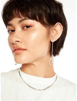 Jin Circular Drop Earrings by Pomelo