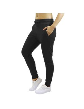 Womens Fleece Jogger Sweatpants With Zipper Pockets by