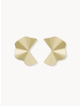 Clover Plate Stud Earrings   Gold by Pomelo