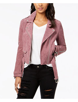 Suede Moto Jacket by Marc New York