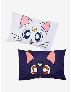 Sailor Moon Luna &Amp; Artemis Pillowcase Set by Hot Topic