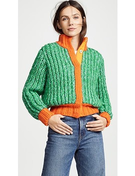 Jagger Cropped Hand Knit Cardigan by Novis