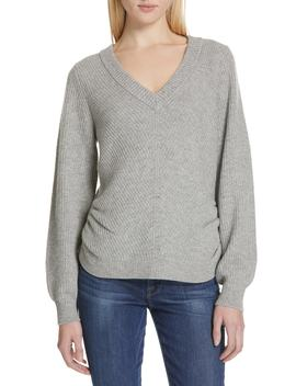 Ruched Wool & Cashmere Sweater by Frame