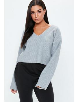 Grey Boxy Cropped Sweatshirt by Missguided