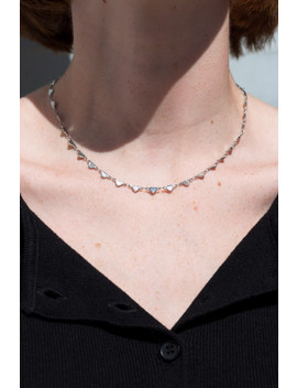 Silver Hearts Necklace by Brandy Melville