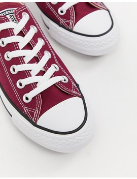 Converse Chuck Taylor All Star Ox Burgundy Sneakers by Converse