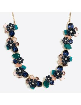 Flower Gemstone Cluster Statement Necklace by J.Crew