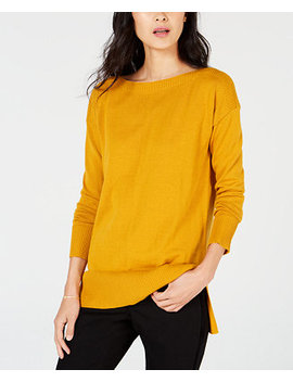 High Low Hem Sweater, Created For Macy's by Maison Jules
