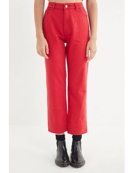 Dl1961 Jerry High Rise Vintage Straight Leg Jean   Outlaw Red by Dl1961