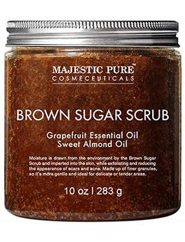 Brown Sugar Body Scrub For Cellulite And Exfoliation   Natural Body & Face Scrub   Reduces The Appearances Of Cellulite, Stretch Marks, Acne, And... by Majestic Pure