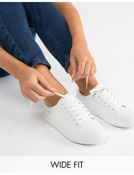 Asos Design Wide Fit Dustin Lace Up Sneakers by Asos Design