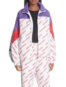Print Nylon Warm Up Jacket by Opening Ceremony