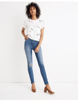 "Tall 10"" High Rise Skinny Jeans: Drop Step Hem Edition by Madewell"