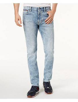 Tommy Hilfiger Men's Slim Fit Stretch Acid Wash Jeans, Created For Macy's by Tommy Hilfiger Denim