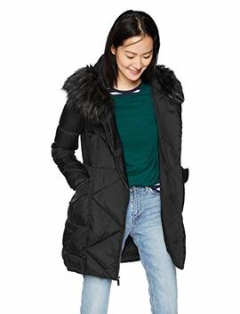 French Connection Women's 3/4 Asymmetrical Oversized Puffer Coat, by French+Connection