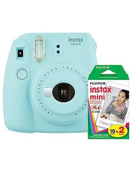 Fujifilm Instax Mini 9 (Ice Blue) Instant Camera With Mini Film Twin Pack by Fujifilm