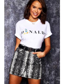 Disney Donald Initial Tee by Boohoo