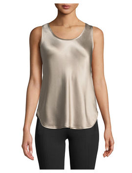 Silk Scoop Neck Bias Tank by Vince