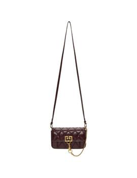 Burgundy Mini Pocket Bag by Givenchy