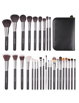 Docolor 29 Pcs Professional Makeup Brush Set Goat Hair Foundation Eyeshadow Kit With Pu Leather Case by Docolor