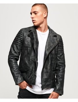 Premium Classic Leather Jacket by Superdry