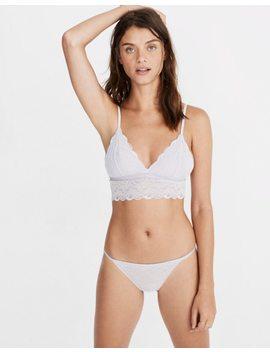Lace Liana Shimmer Detail Longline Bralette by Madewell