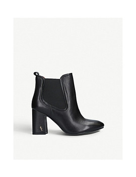 Raylan Heeled Leather Ankle Boots by Kurt Geiger London