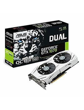 Asus Dual Geforce Gtx 1070 8 Gb Oc Computer Graphics Card   Pci E G Sync 4 K And Vr Ready Gpu by Asus